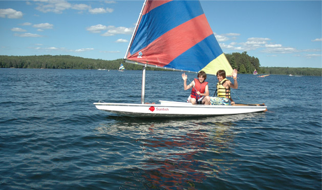 Nothing instills confidence like learing to sail.