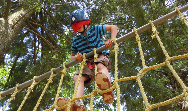 The thrill of the adventure course