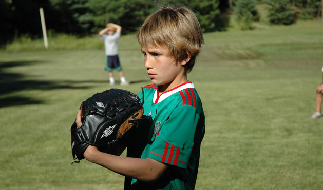 Boys improve baseball skill with excellent instruction