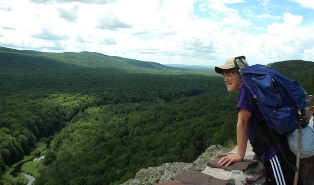 Overlooking Lake of the Clouds in the Porcupine Mountains