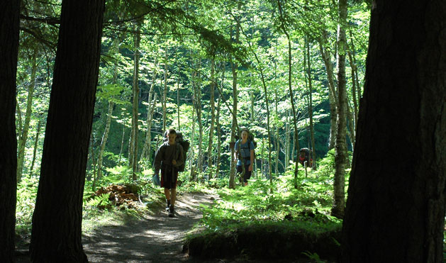 Trekking through the woods with all that gear on their backs – what an accomplishment!