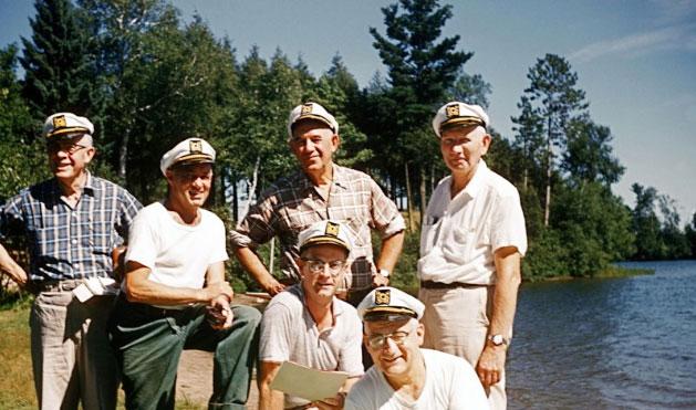 1959 – <em>The Admirals, </em>Norvil Beeman, Tony Anthony, <em>Unk</em> Nelson, Ralph Magor, <em>Snow</em> Nothdurft, Bob Manschott