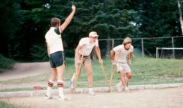 1977 – Butch starts, Brian Wilcox and Craig Taylor in the crutch race