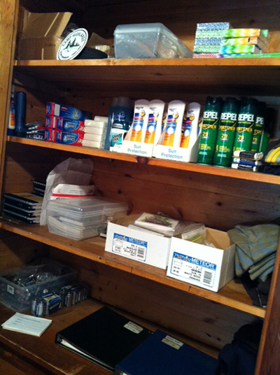 Sunblock, bug spray and other essentials