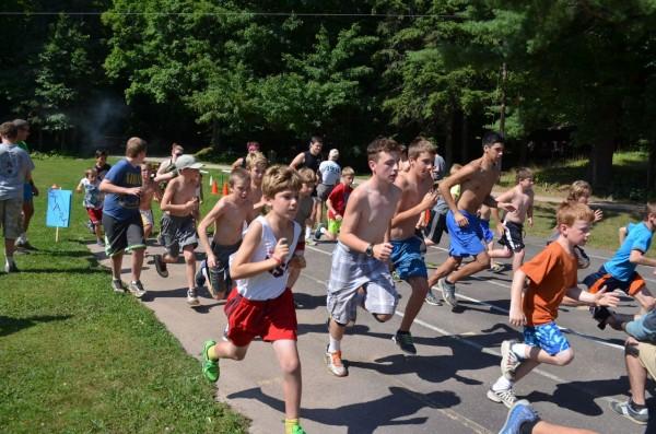 run to camp